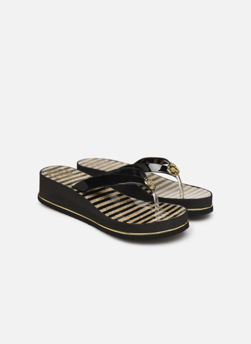 Chanclas Guess ENZY Negro vista 3/4