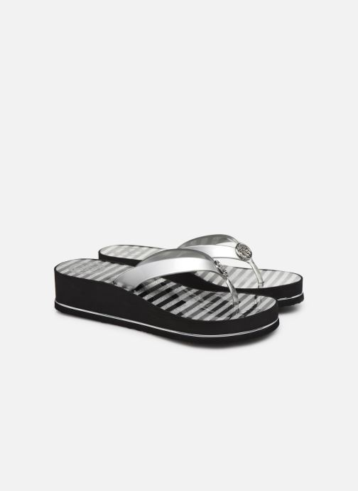 Tongs Guess ENZY Argent vue 3/4
