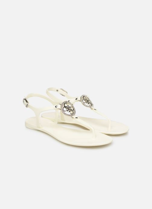 Sandalias Guess JACODE Blanco vista 3/4
