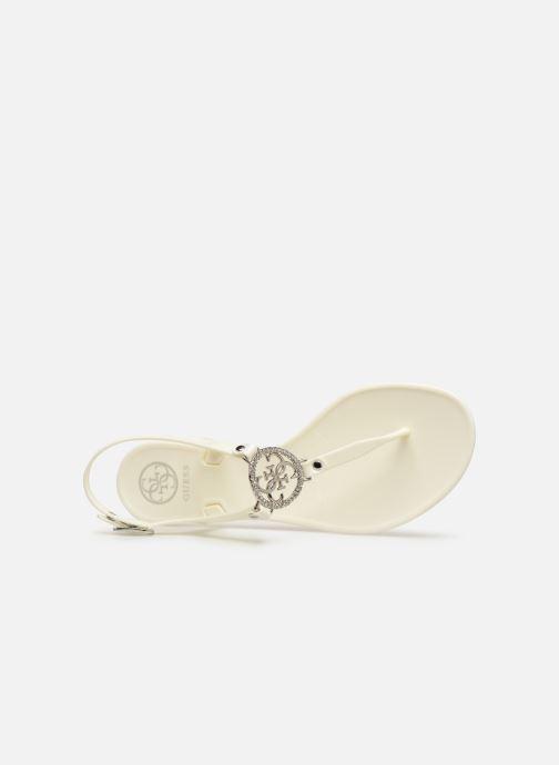 Sandales et nu-pieds Guess JACODE Blanc vue gauche