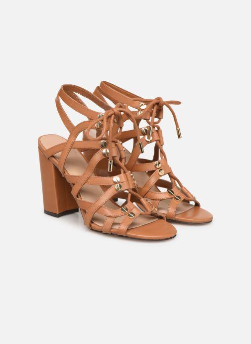 Sandals Guess KARLIE Brown 3/4 view