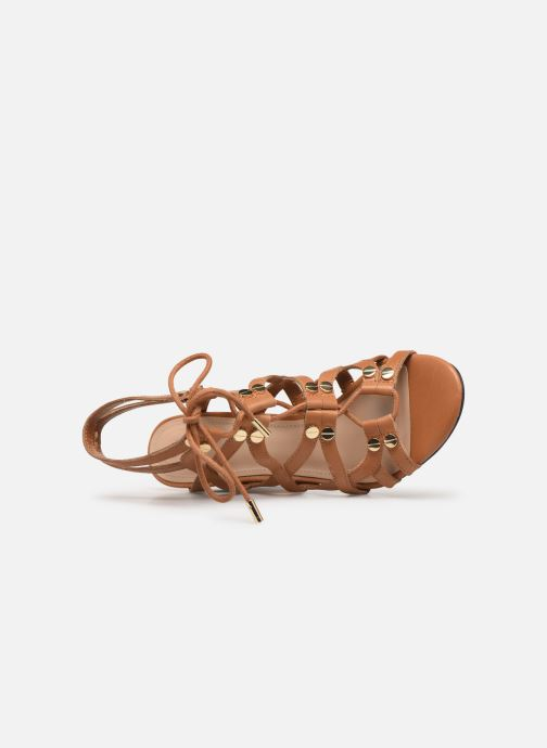 Sandals Guess KARLIE Brown view from the left