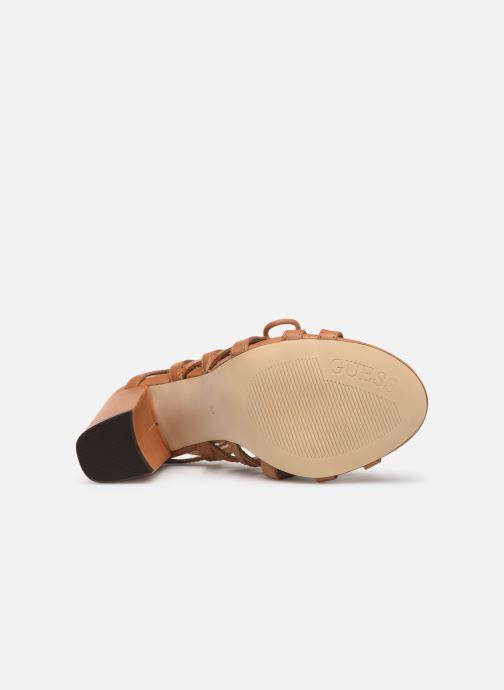 Sandales et nu-pieds Guess KARLIE Marron vue haut