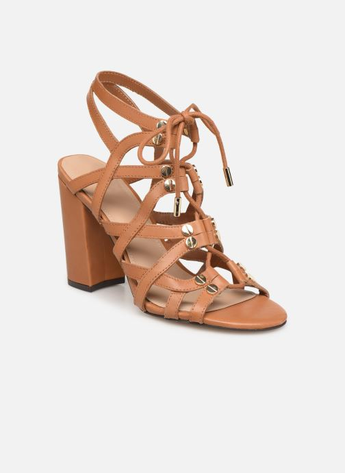 Sandals Guess KARLIE Brown detailed view/ Pair view