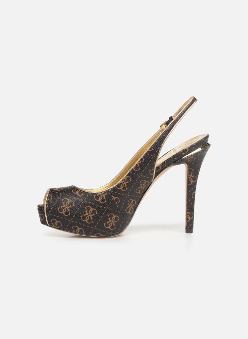 Zapatos de tacón Guess HARTLIA Marrón vista de frente