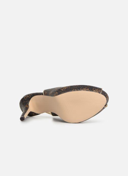 Zapatos de tacón Guess HARTLIA Marrón vista de arriba