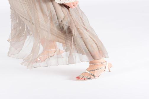 Sandales et nu-pieds Guess NYLAE Rose vue bas / vue portée sac
