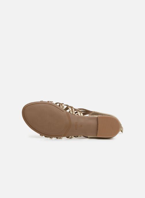 Sandales et nu-pieds Guess RENATA3 Or et bronze vue haut