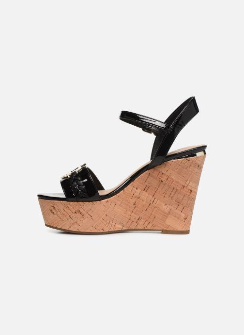 Sandales et nu-pieds Guess GESINA2 Noir vue face