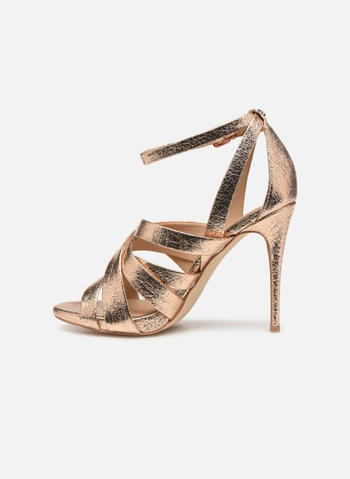 Sandales et nu-pieds Guess TAHSHA Or et bronze vue face
