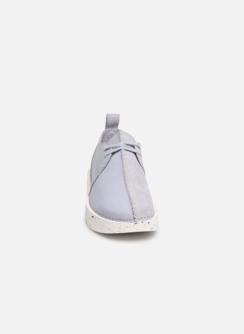 Baskets Clarks Originals TREK FORM. Violet vue portées chaussures