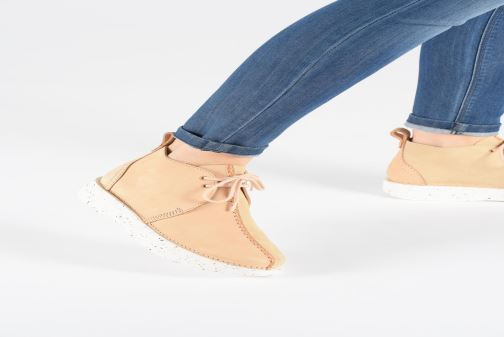 Bottines et boots Clarks Originals TREK HEIGHTS W Rose vue bas / vue portée sac