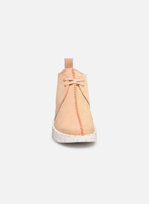 Bottines et boots Clarks Originals TREK HEIGHTS W Rose vue portées chaussures