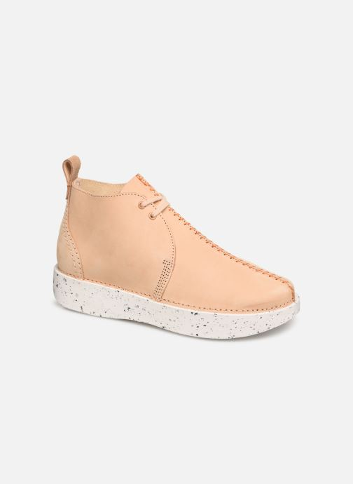 Botines  Clarks Originals TREK HEIGHTS W Rosa vista de detalle / par