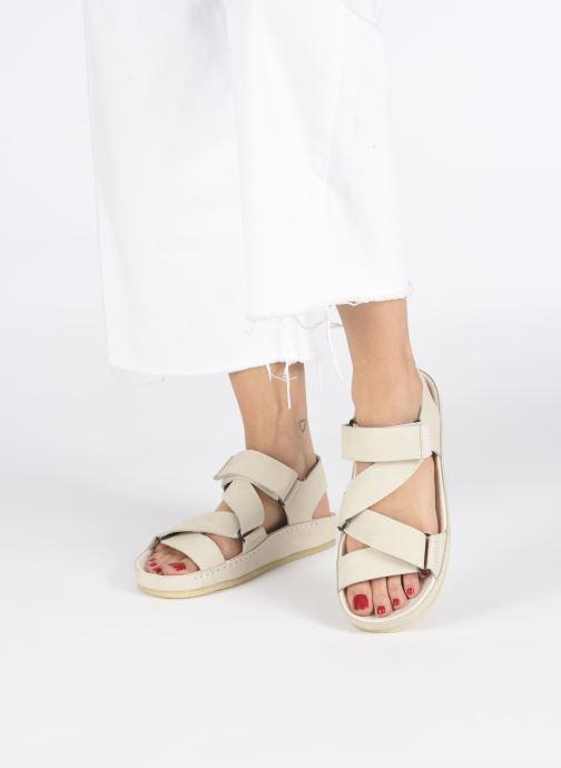 Sandales et nu-pieds Clarks Originals RANGER SPORT. W Blanc vue bas / vue portée sac