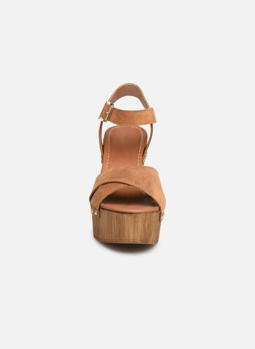 Sandales et nu-pieds Aldo DELENIEL Marron vue portées chaussures