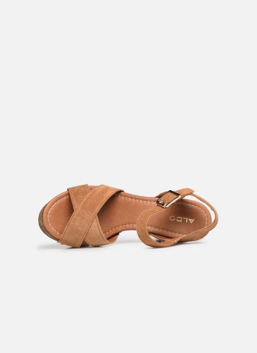 Sandales et nu-pieds Aldo DELENIEL Marron vue gauche