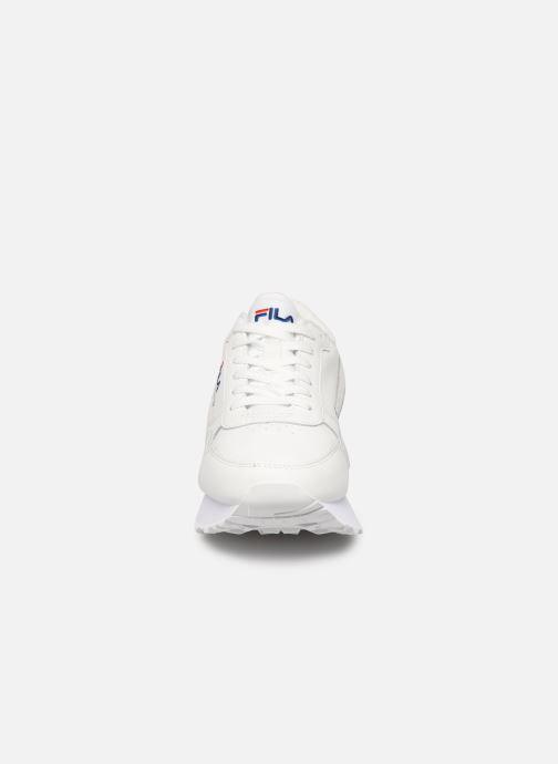 Baskets FILA Orbit Zeppal L Wmn Blanc vue portées chaussures