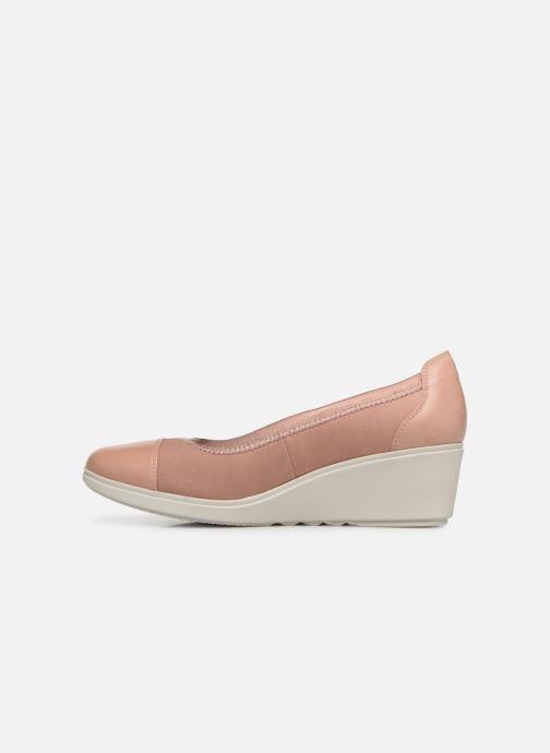 Zapatos de tacón Clarks Unstructured UN TALLARA LIZ Rosa vista de frente