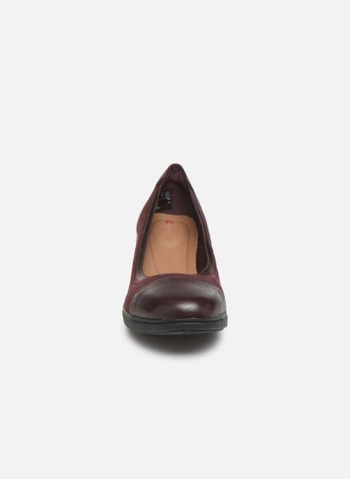 Escarpins Clarks Unstructured UN TALLARA LIZ Bordeaux vue portées chaussures