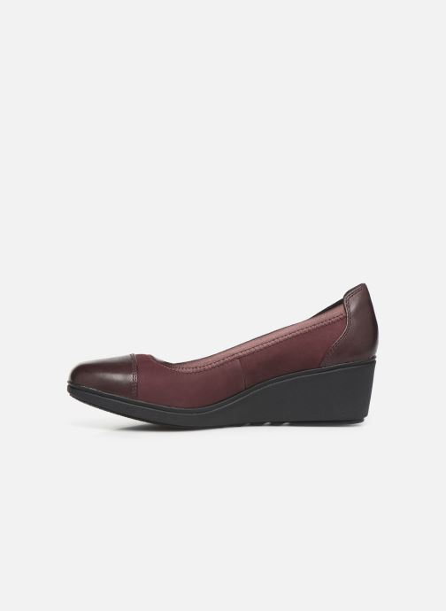 Escarpins Clarks Unstructured UN TALLARA LIZ Bordeaux vue face