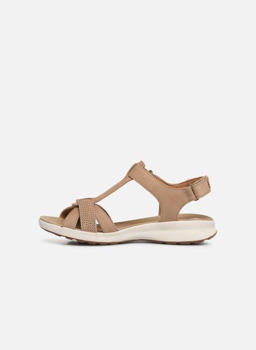Sandales et nu-pieds Clarks Unstructured UN ADORN VIBE Beige vue face