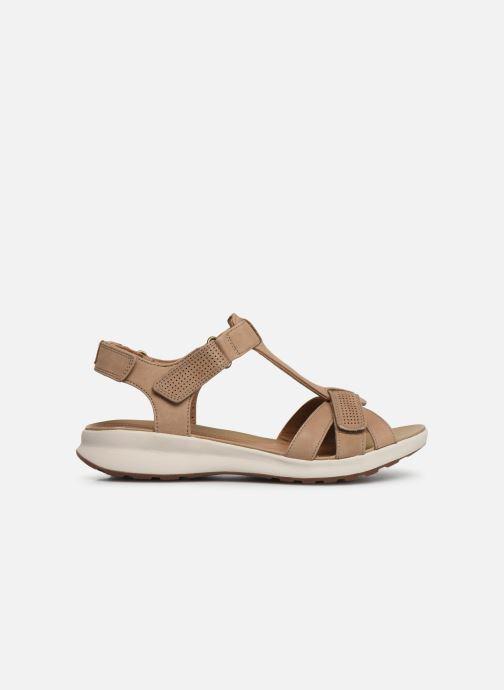 Sandales et nu-pieds Clarks Unstructured UN ADORN VIBE Beige vue derrière