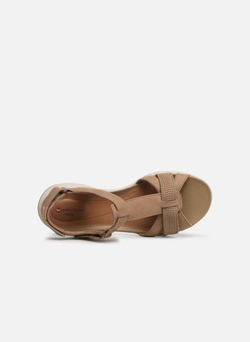 Sandales et nu-pieds Clarks Unstructured UN ADORN VIBE Beige vue gauche