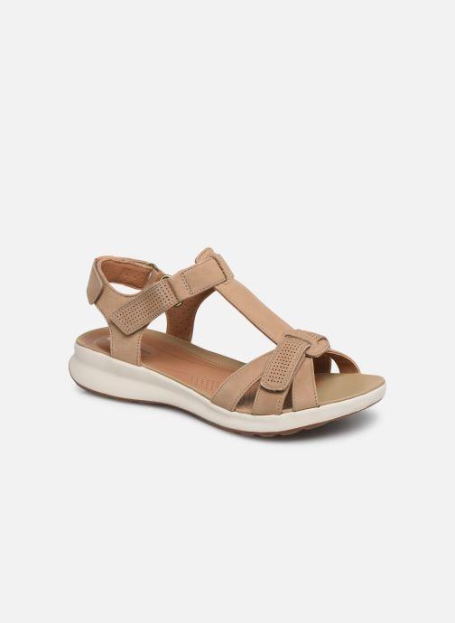 Sandales et nu-pieds Clarks Unstructured UN ADORN VIBE Beige vue détail/paire