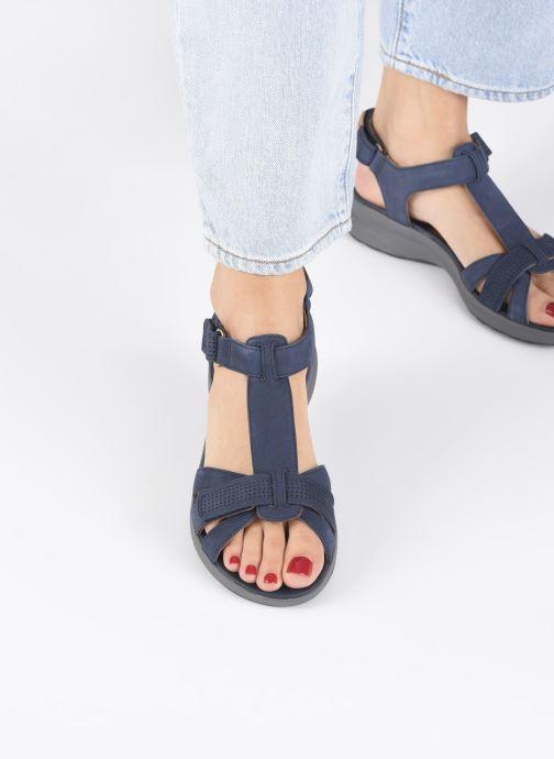 Sandales et nu-pieds Clarks Unstructured UN ADORN VIBE Bleu vue bas / vue portée sac