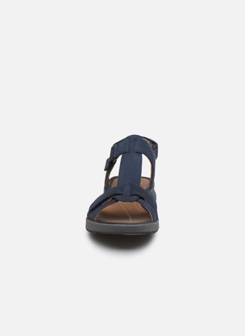 Sandali e scarpe aperte Clarks Unstructured UN ADORN VIBE Azzurro modello indossato