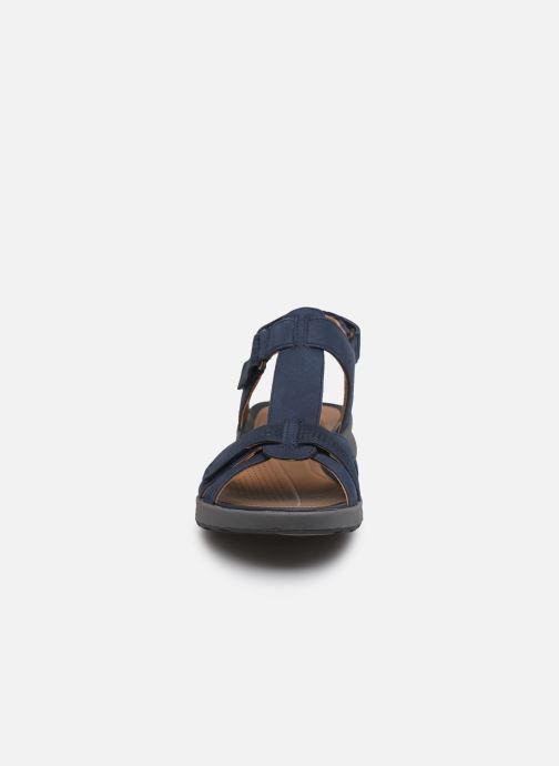Sandales et nu-pieds Clarks Unstructured UN ADORN VIBE Bleu vue portées chaussures