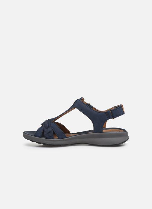 Sandales et nu-pieds Clarks Unstructured UN ADORN VIBE Bleu vue face