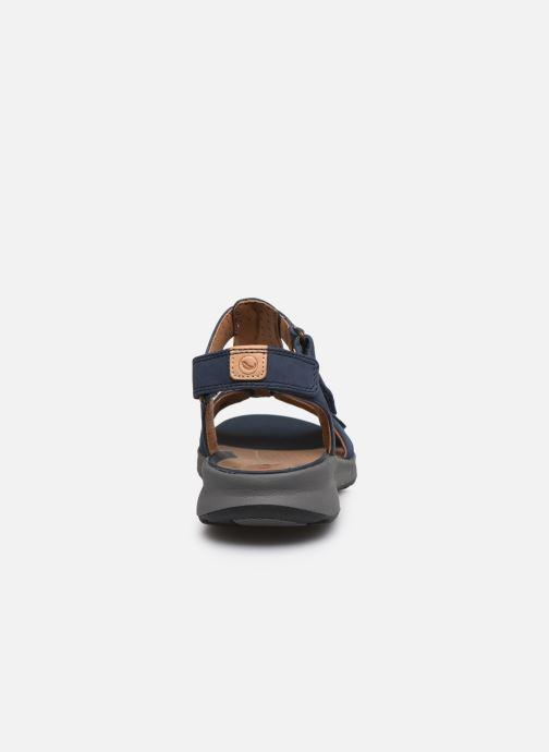 Sandales et nu-pieds Clarks Unstructured UN ADORN VIBE Bleu vue droite