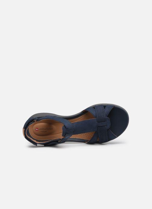 Sandales et nu-pieds Clarks Unstructured UN ADORN VIBE Bleu vue gauche