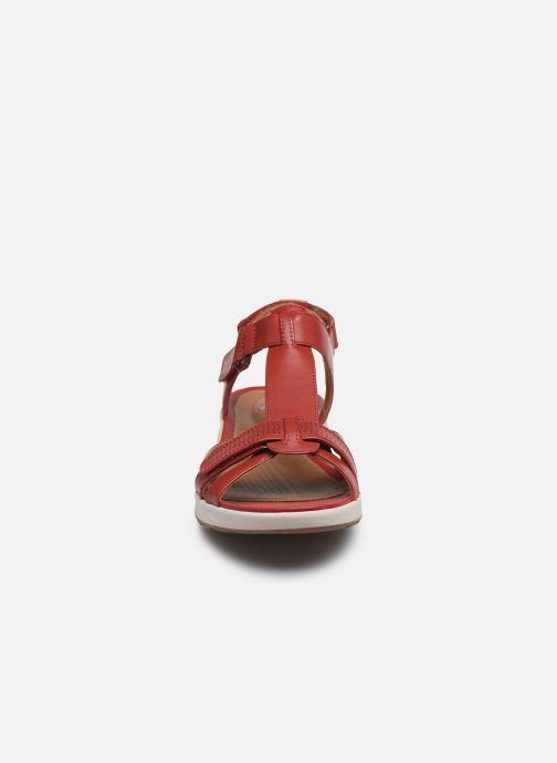 Sandalen Clarks Unstructured UN ADORN VIBE rot schuhe getragen