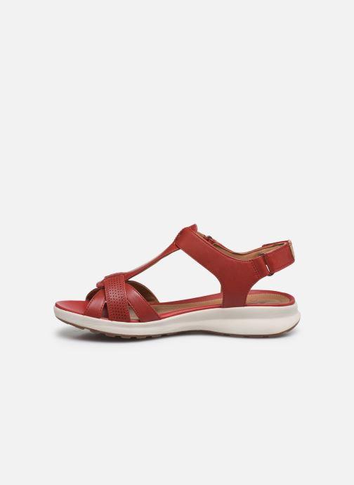 Sandales et nu-pieds Clarks Unstructured UN ADORN VIBE Rouge vue face