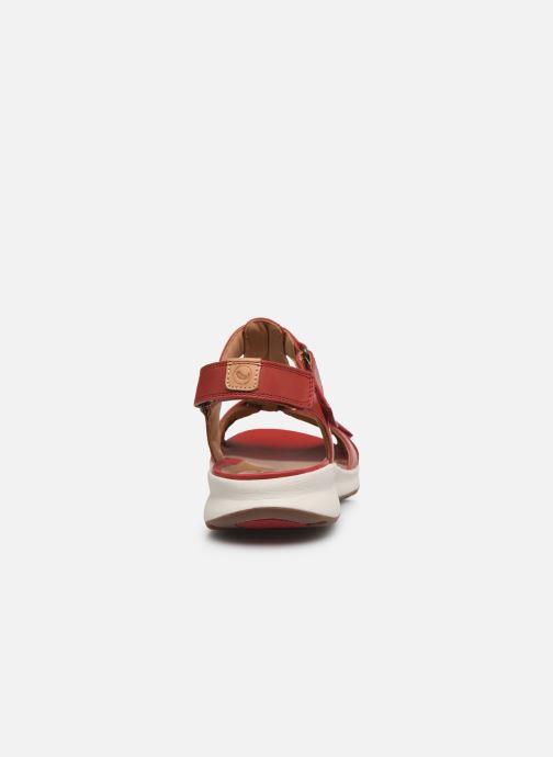 Sandalen Clarks Unstructured UN ADORN VIBE rot ansicht von rechts