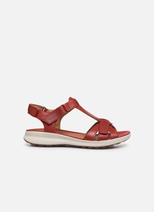 Sandales et nu-pieds Clarks Unstructured UN ADORN VIBE Rouge vue derrière