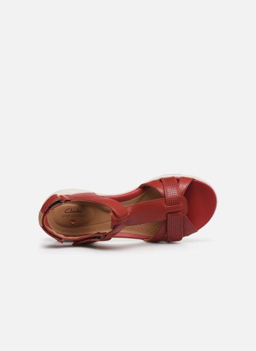 Sandalen Clarks Unstructured UN ADORN VIBE rot ansicht von links