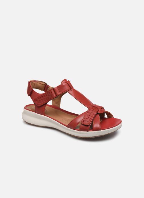 Sandales et nu-pieds Clarks Unstructured UN ADORN VIBE Rouge vue détail/paire