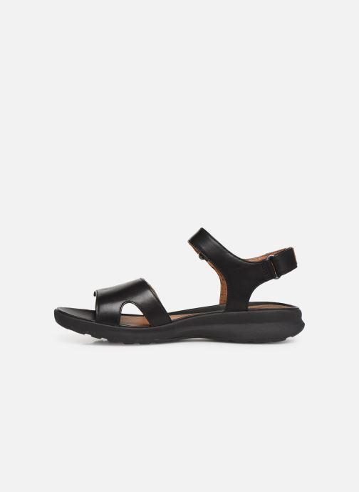 Sandales et nu-pieds Clarks Unstructured UN ADORN CALM Noir vue face