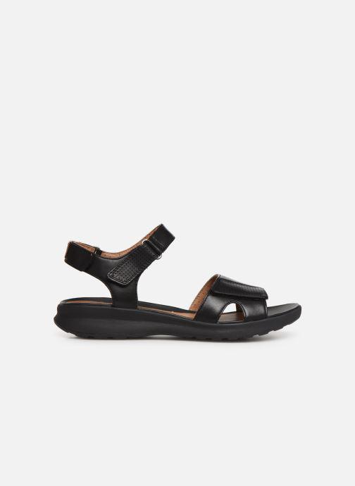 Sandales et nu-pieds Clarks Unstructured UN ADORN CALM Noir vue derrière