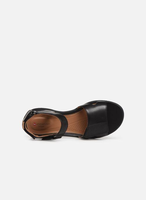 Sandales et nu-pieds Clarks Unstructured UN ADORN CALM Noir vue gauche