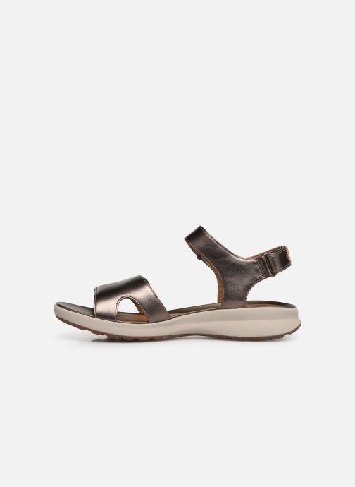 Sandales et nu-pieds Clarks Unstructured UN ADORN CALM Or et bronze vue face