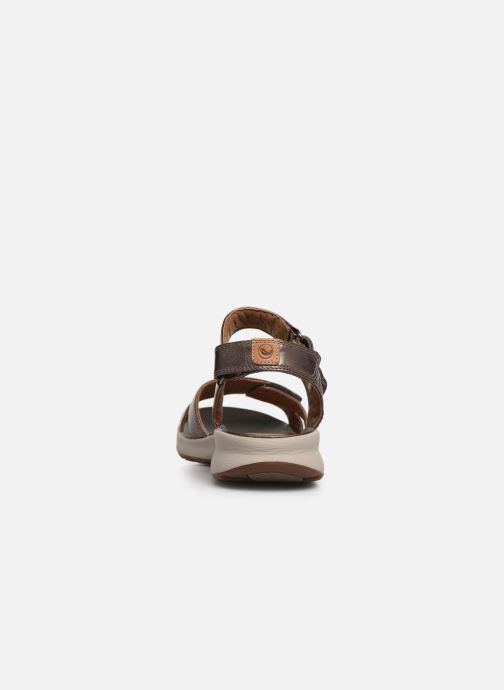 Sandales et nu-pieds Clarks Unstructured UN ADORN CALM Or et bronze vue droite