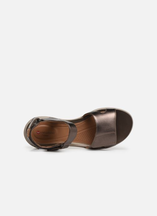 Sandales et nu-pieds Clarks Unstructured UN ADORN CALM Or et bronze vue gauche