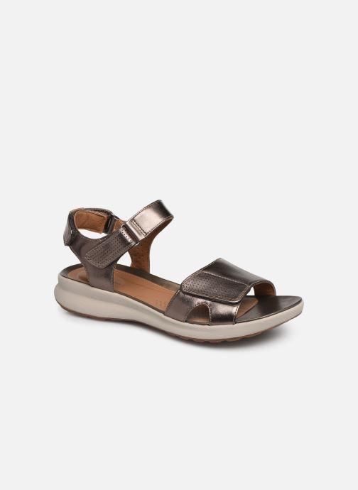 Sandales et nu-pieds Clarks Unstructured UN ADORN CALM Or et bronze vue détail/paire