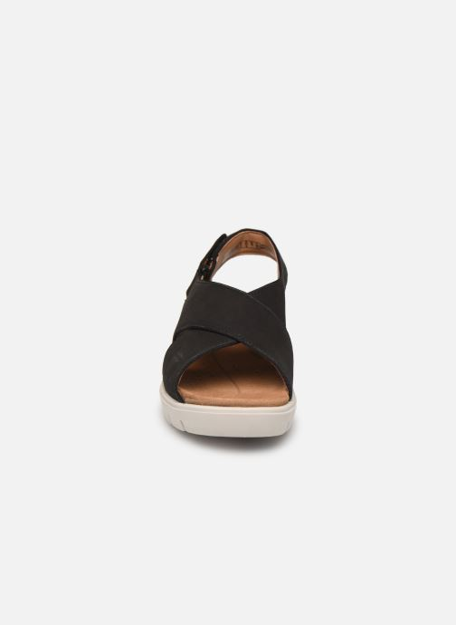 Sandalen Clarks Unstructured UN KARELY SUN schwarz schuhe getragen