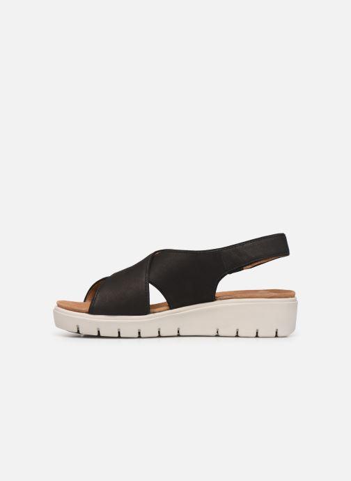 Sandales et nu-pieds Clarks Unstructured UN KARELY SUN Noir vue face